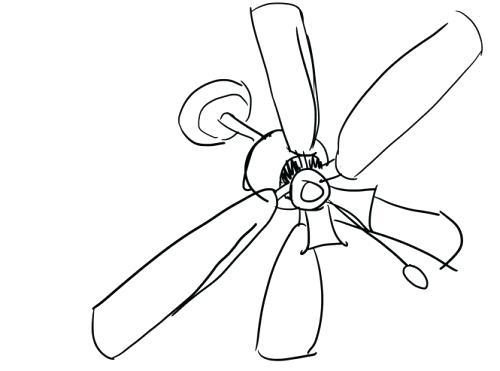 500x371 Ceiling Fan Drawing Notes A A Ceiling Fan Ceiling Fan Helicopter