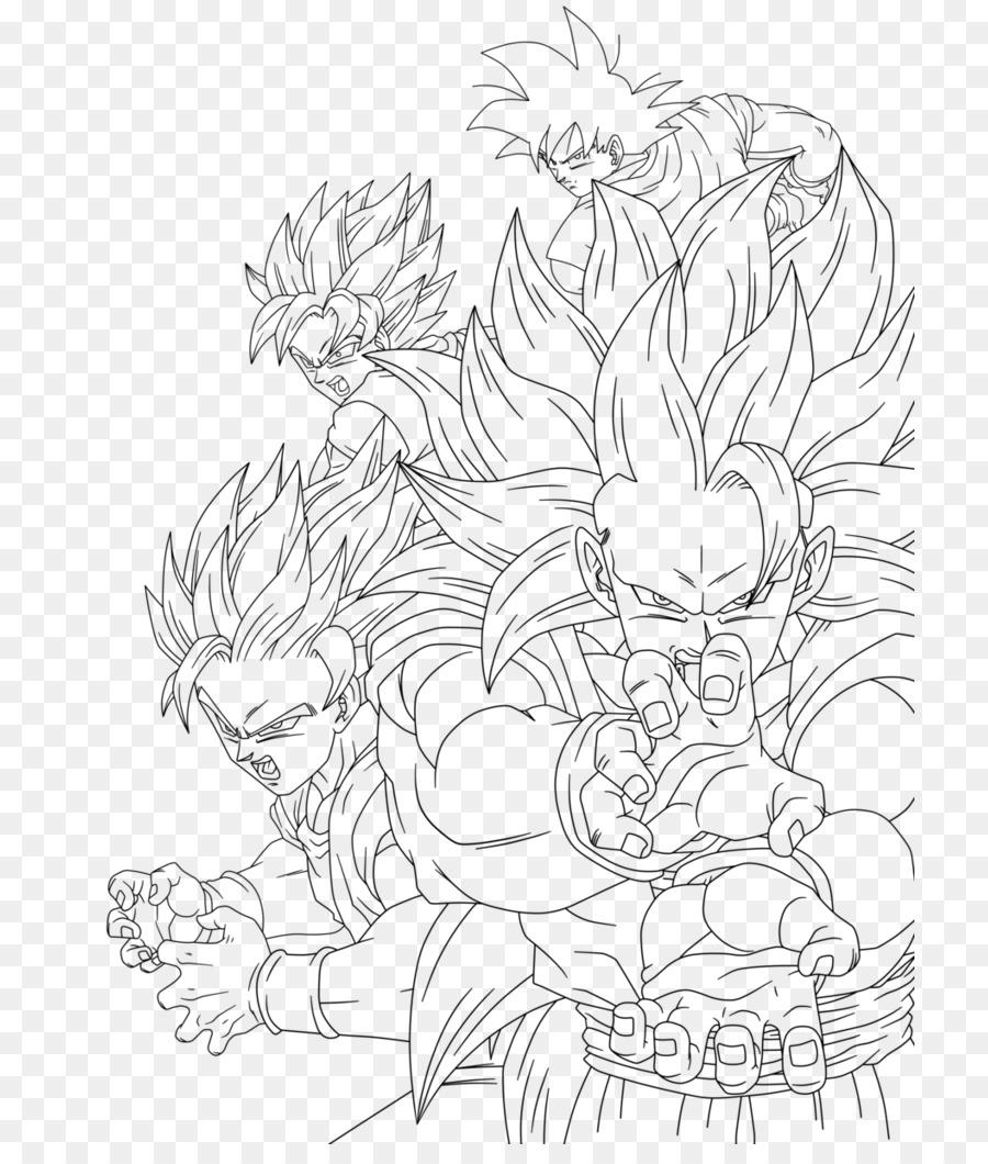 900x1060 Goku Gohan Vegeta Cell Super Saiya