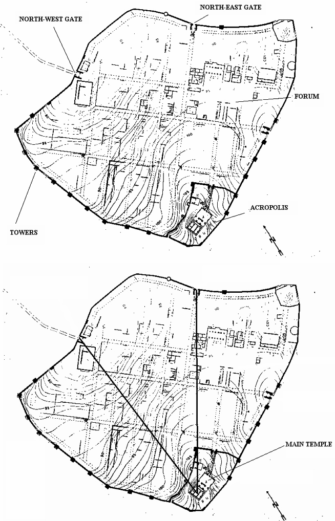 654x1018 A, Above) Plan Of Cosa B, Below) Plan Of Cosa Two Solid Lines