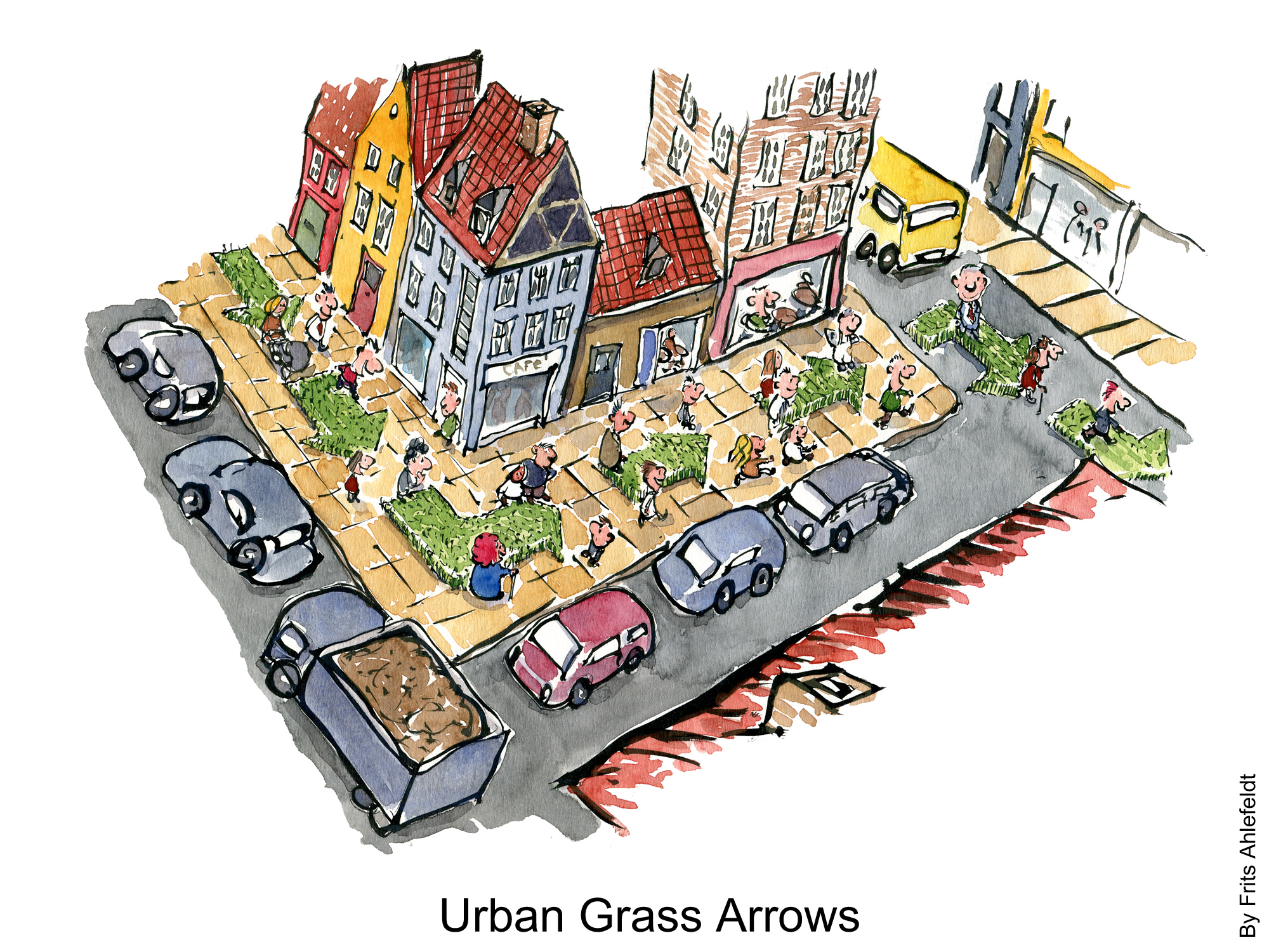2000x1500 Green City Grass Arrows Sidewalk Txt The Hiking Artist Project