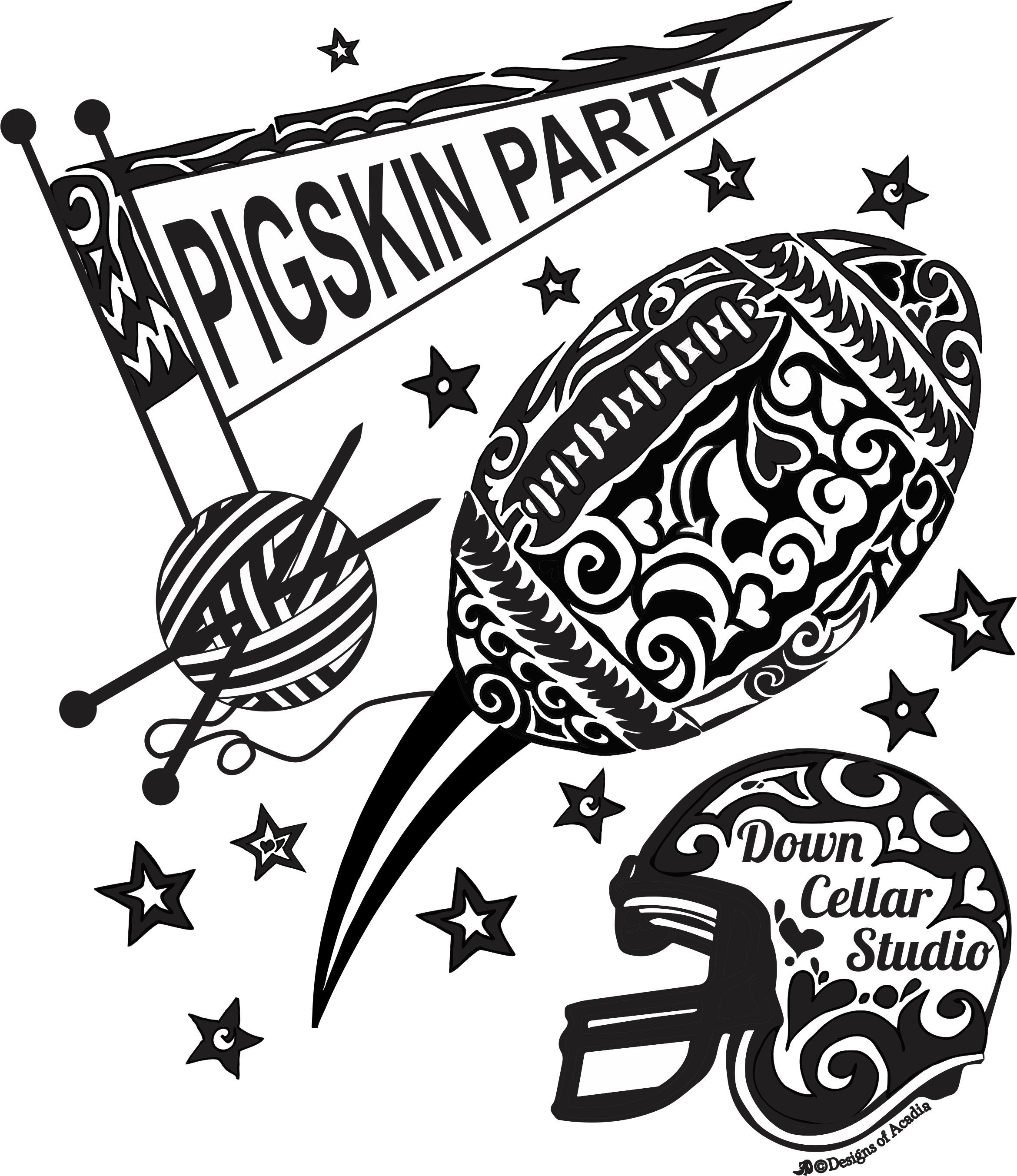 2340x2706 Pigskin Party
