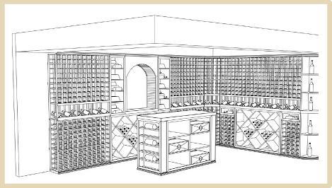469x266 3d Wine Cellar Drawing
