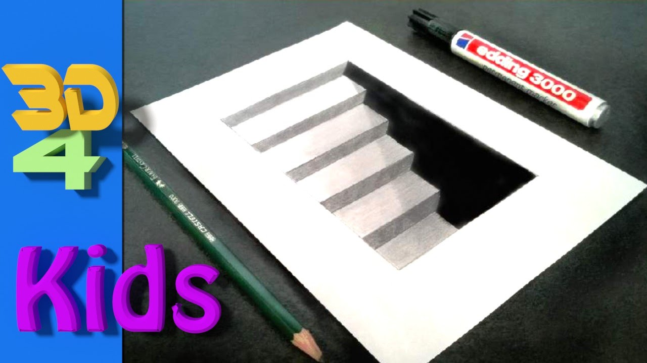 1280x720 Wow! Step By Step Drawing! Easy 3d Cellar Stairs