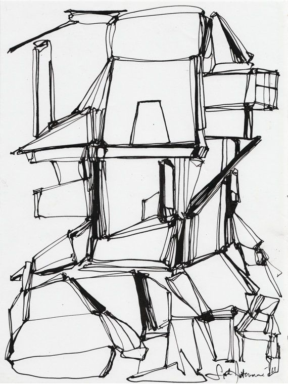 570x759 Cement Factory Series (Original Ink Drawing Vii) Cement