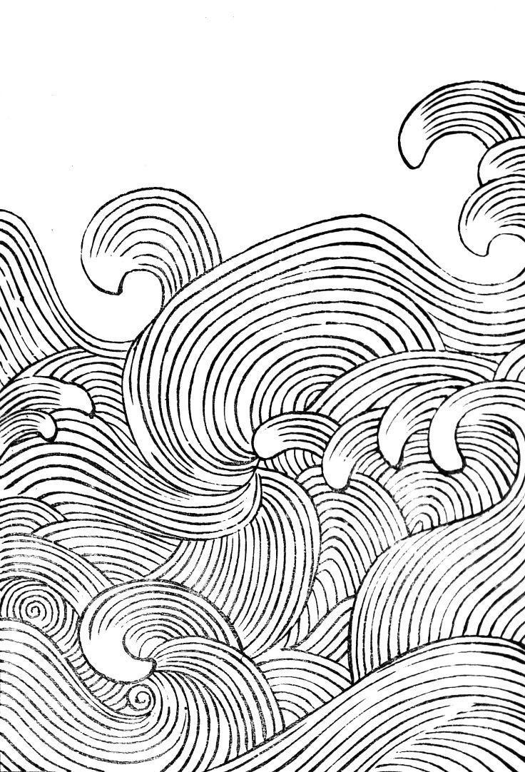 736x1082 Waves Drawing Tumblr
