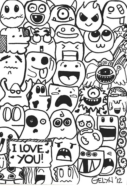 500x733 40 Awesome Cute Doodles Images