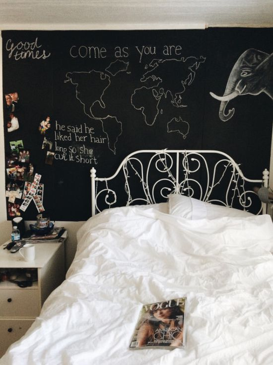 550x734 50 Chalkboard Wall Paint Ideas For Your Bedroom