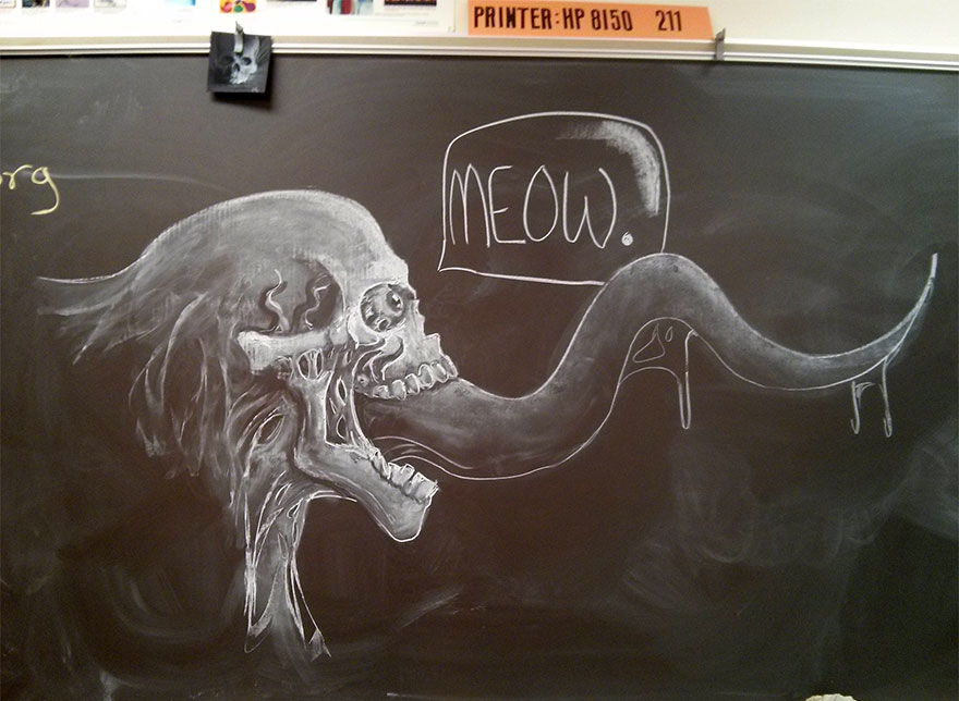 880x644 Teacher Draws Stunning Chalkboard Drawings To Inspire His Students