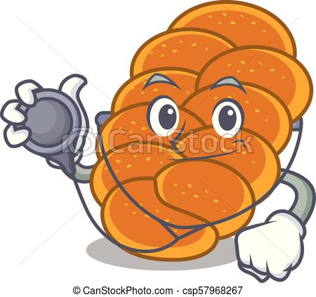 450x423 Doctor Challah Character Cartoon Style Vector Illustration Clip