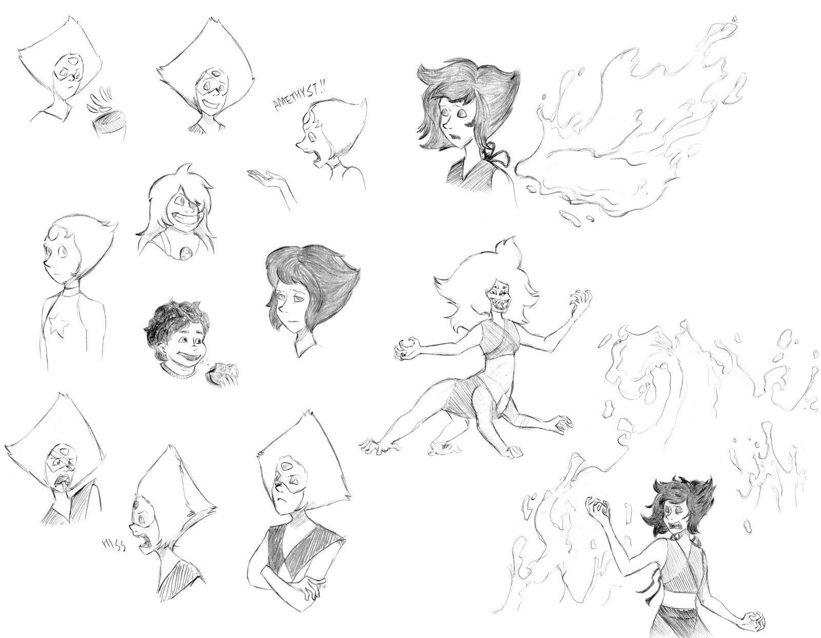 1600x1242 Steven Universe Doodles