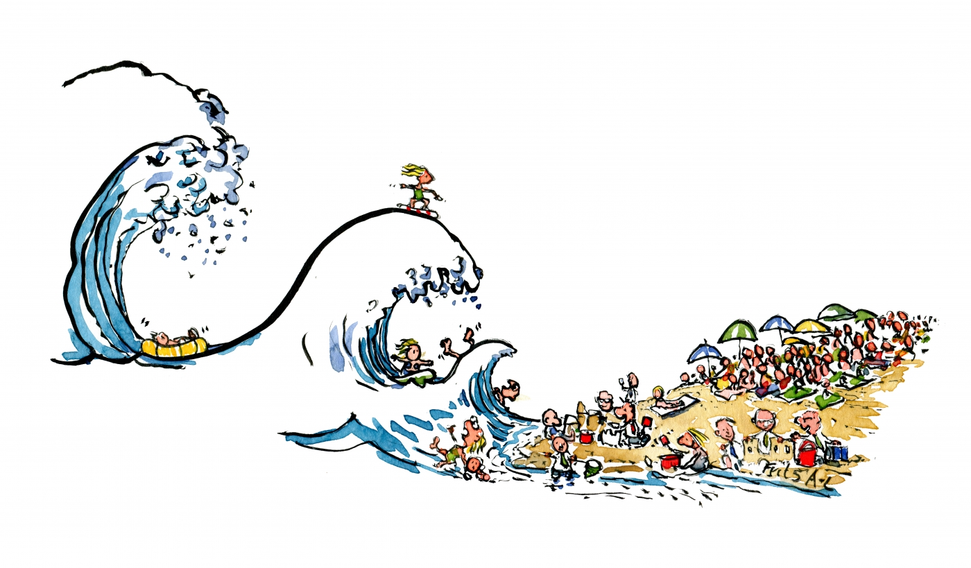 1400x819 Waves Of The Future Global Change Illustration By Frits Ahlefeldt