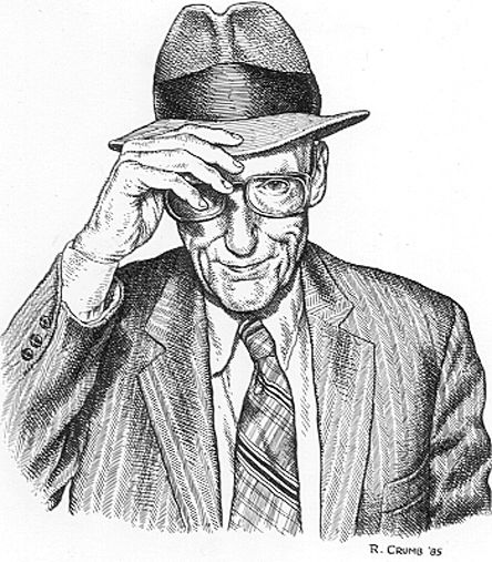 444x507 William Burroughs By R Crumb. Pen And Ink On Paper Robert Crumb