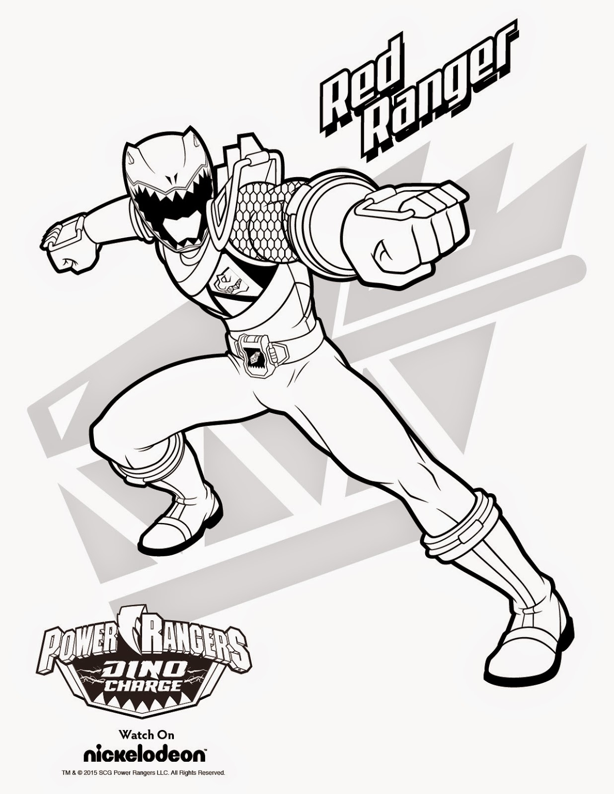 1236x1600 Power Ranger Dino Charge Coloring Page Printable Free Coloring