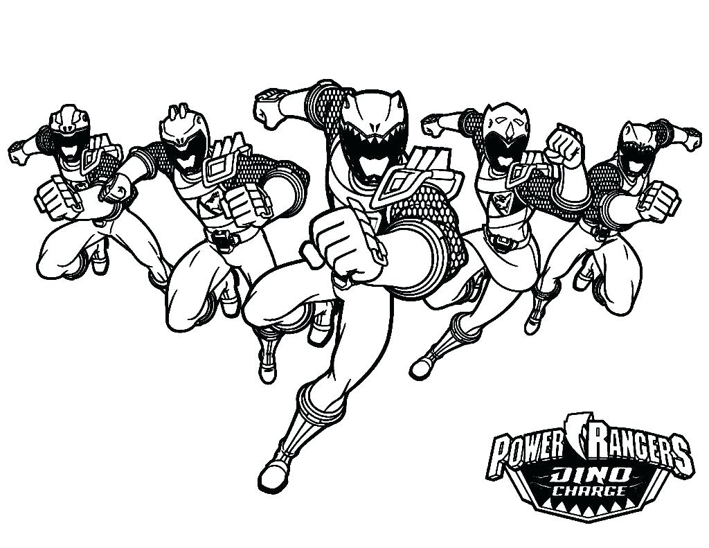 1024x791 Surprise Power Rangers Charge Coloring Pages Of Power Rangers Dino