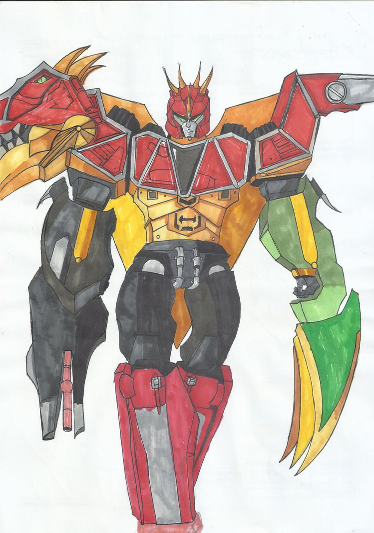 749x1066 Dino Charge Megazord Para Raptor Formation By Ryugassj3