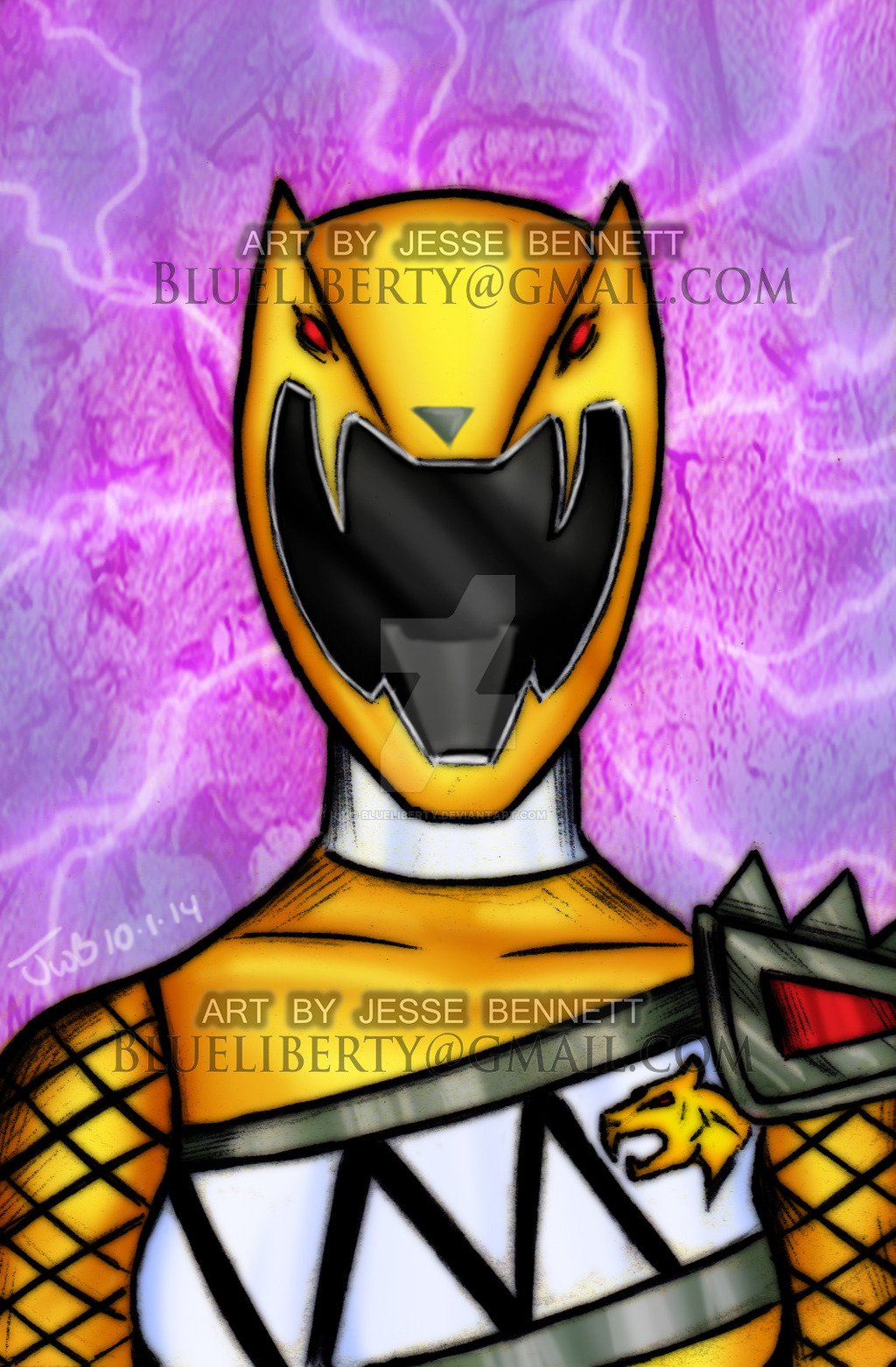 1024x1562 Dino Charge Yellow Ranger (Sentai Kyoryuger) By Blueliberty