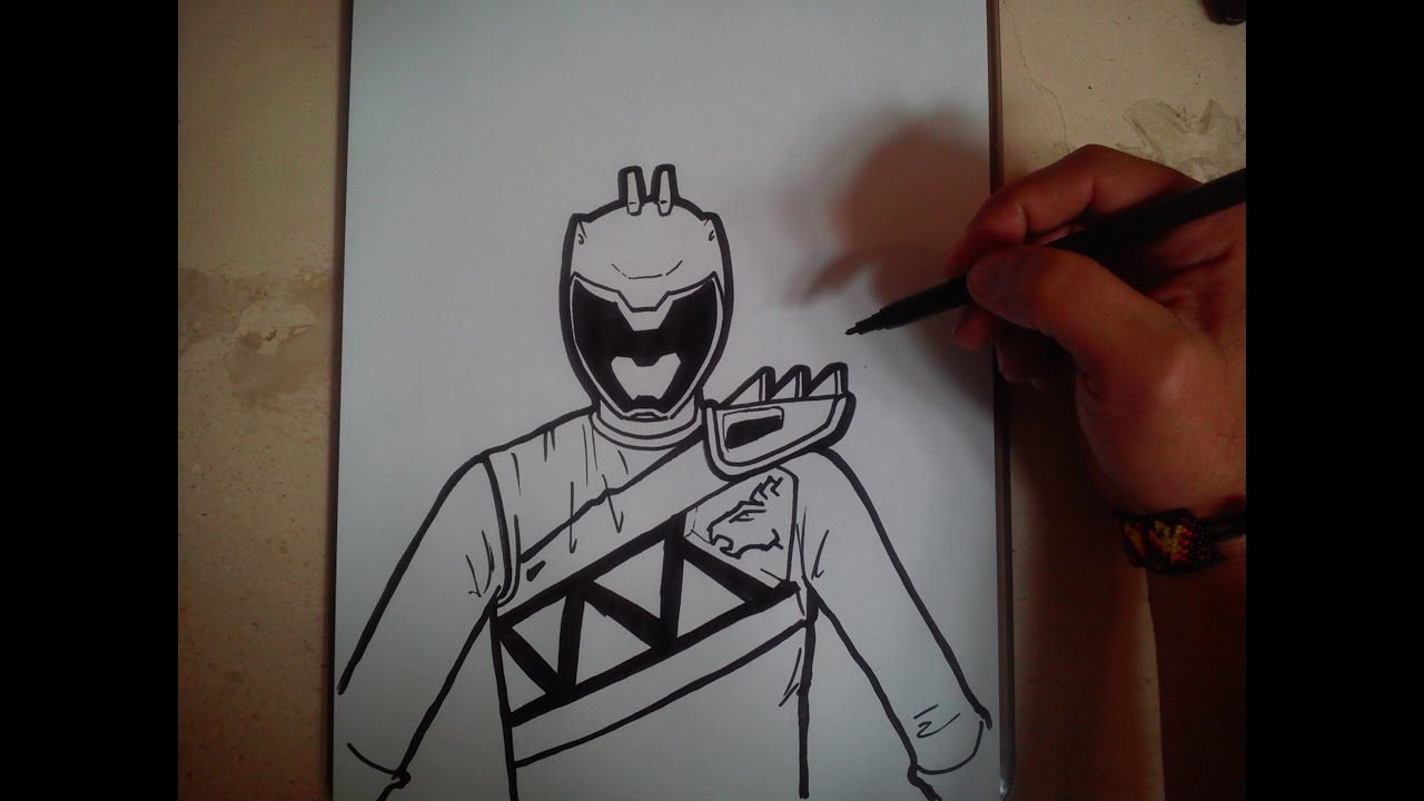 1280x720 How To Draw Power Ranger Dino Charge