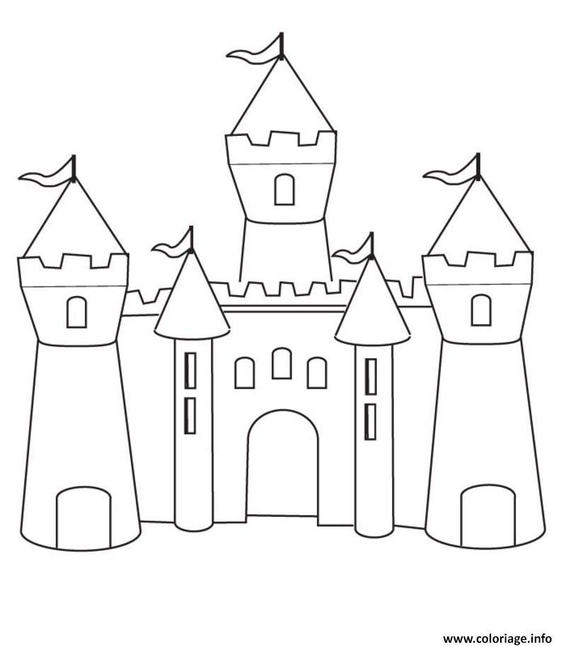 800x914 Coloriage Chateau 1503358259chateau Maternelle