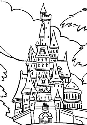 277x400 Coloriage Chateau Disney 6 On With Hd Resolution 277x400 Pixels