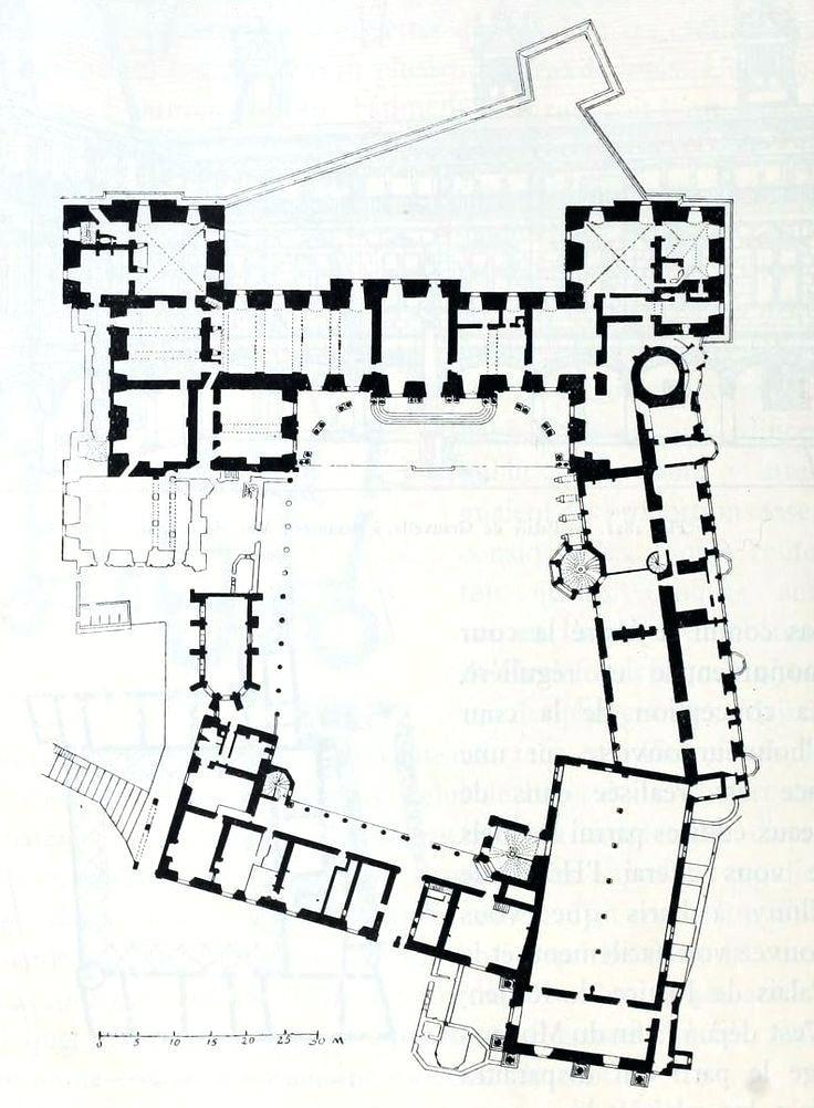 736x1002 De Chateau Floors Ground Floor Plan Of The Chateau Duchateau
