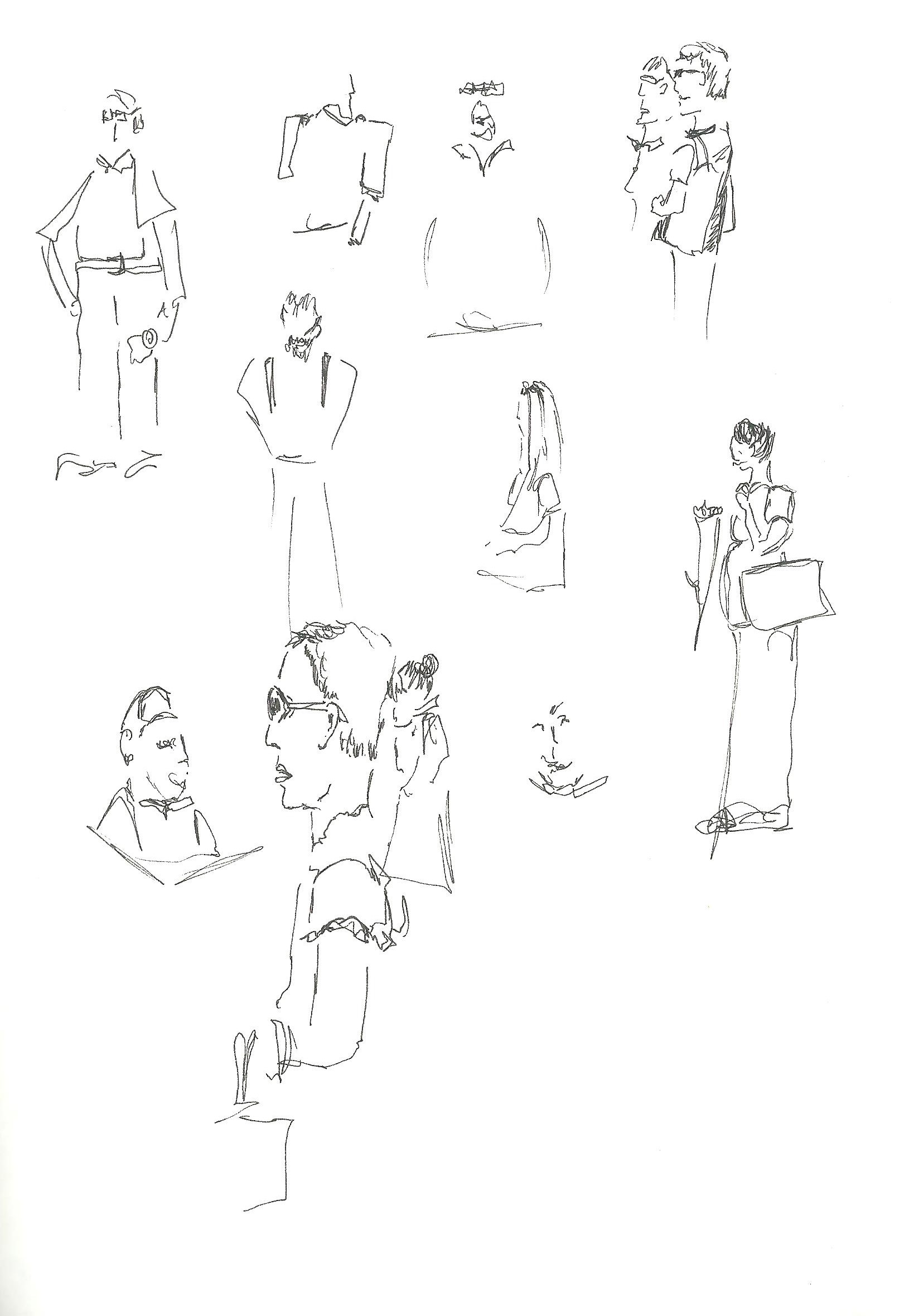 1621x2359 Practising People Drawing With A Chateau Thrown Becky Lees