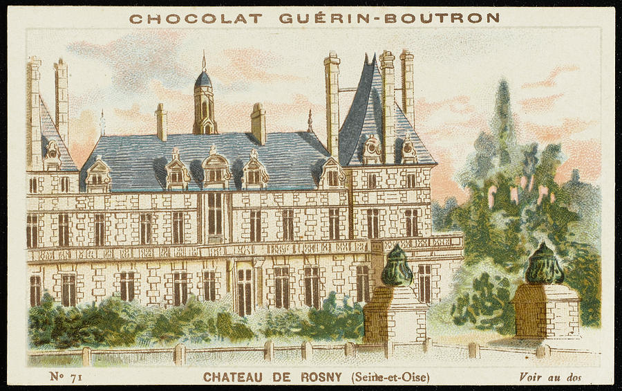900x565 Chateau De Rosny (Seine Et Oise) Drawing By Mary Evans Picture Library