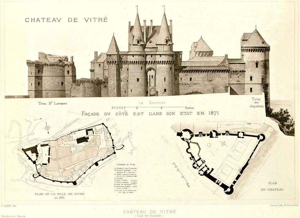 956x696 Elevation And Plans Of The Chateau De France