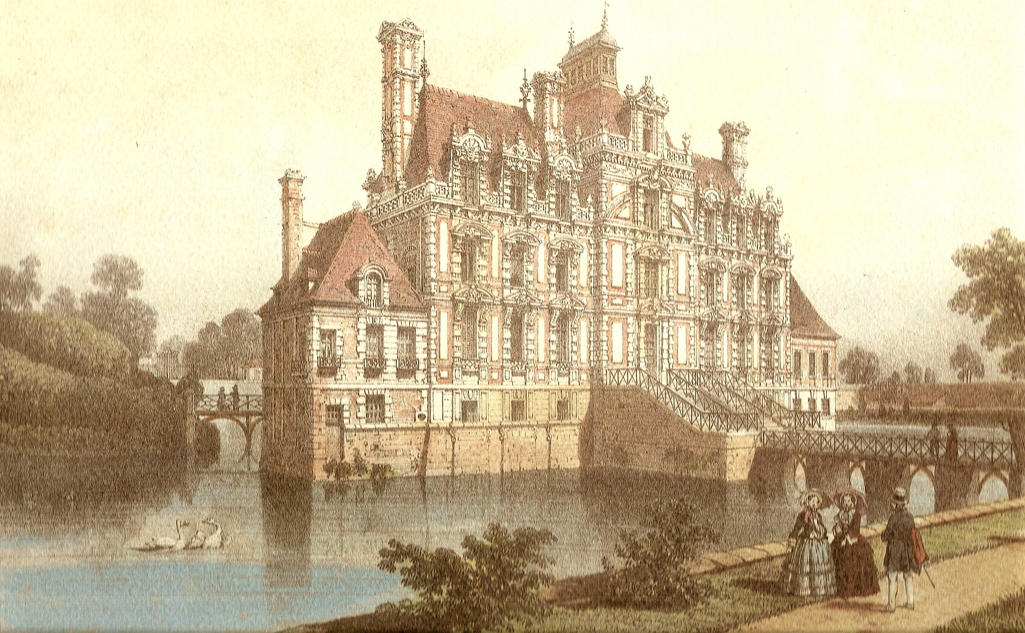 3494x2158 Filechateau De Beaumesnil 1820.jpg