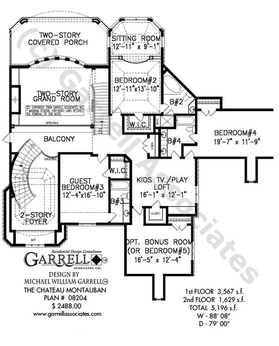 564x700 Chateau Montauban House Plan House Plans By Garrell Associates, Inc.