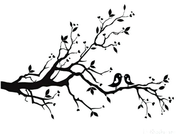 600x458 Birds On Branch Outline Branch Outline This Project Will Be Birds