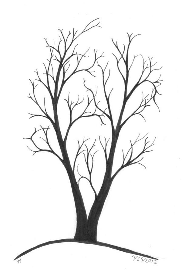 600x893 Collection Of Dead Tree Drawing Tumblr High Quality, Free