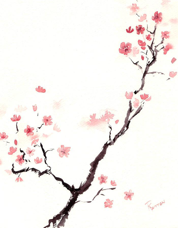700x900 Collection Of Cherry Blossom Drawing Tumblr High Quality