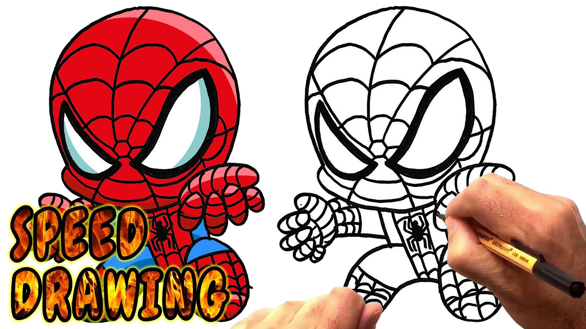 Chibi Spiderman Drawing at GetDrawings | Free download