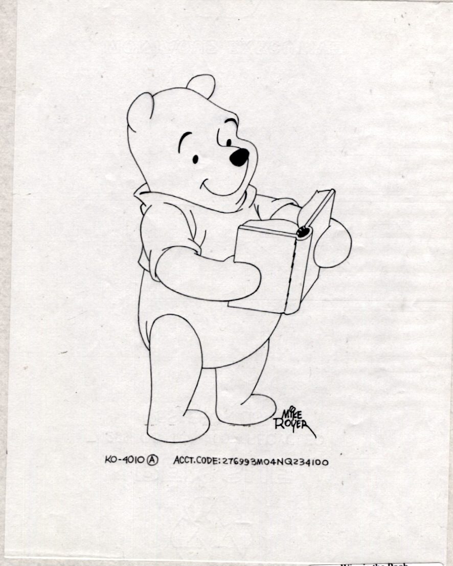 886x1106 Pooh With A Book