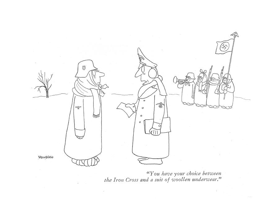 899x702 You Have Your Choice Between The Iron Cross By Saul Steinberg