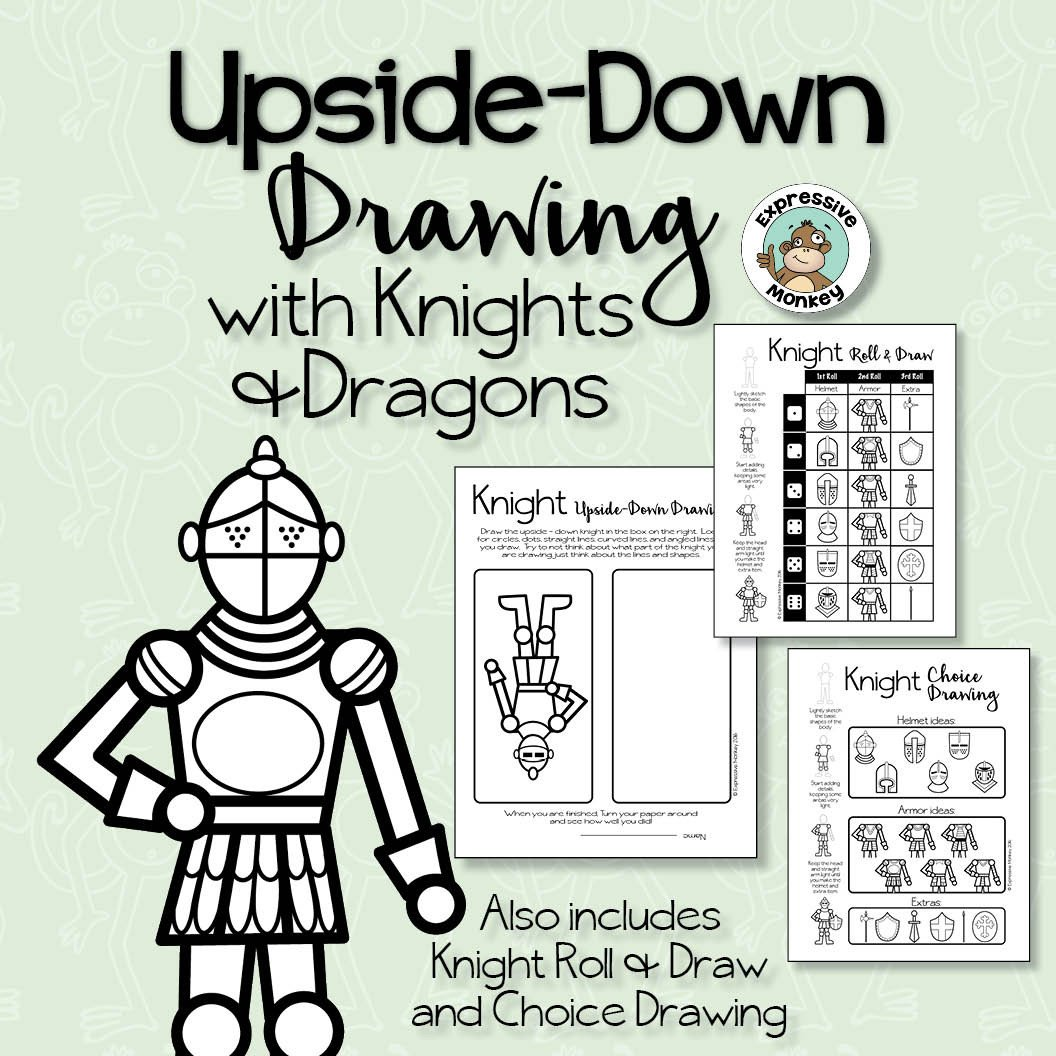 1056x1056 How To Draw Knights Amp Dragons Upside Down Drawing, Roll Amp Draw +
