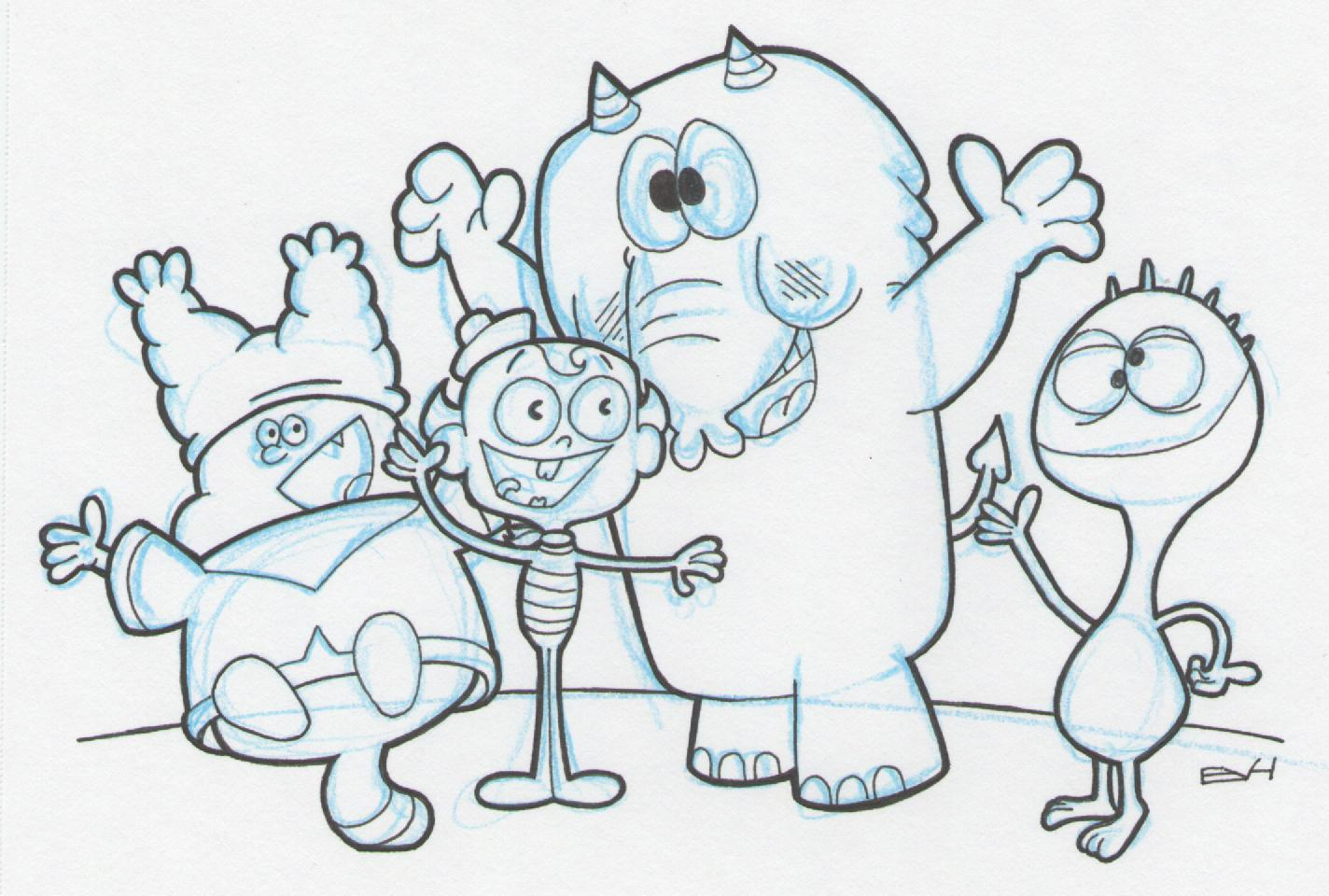 1424x960 Doodle 263 Cartoon Network Characters Doodle A Day