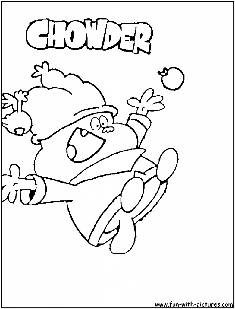 780x1024 Chowder Coloring Pages To Print