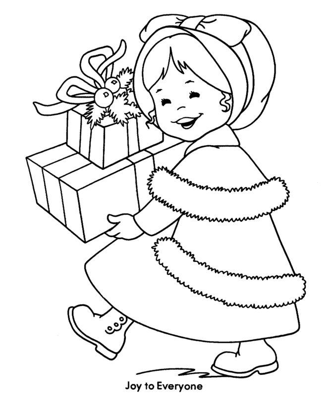 Christmas Girl Drawing