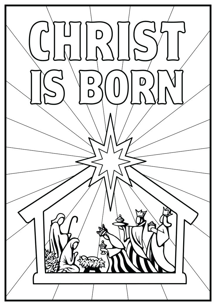 736x1041 Christmas Scene Coloring Pages Trendy Nativity Coloring Page Best