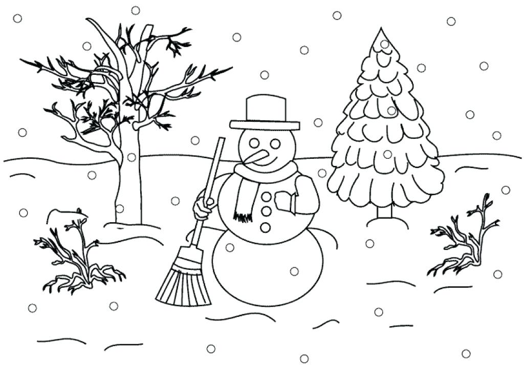 1024x744 Christmas Scenes Coloring Sheets Printable Nativity Scene Pages