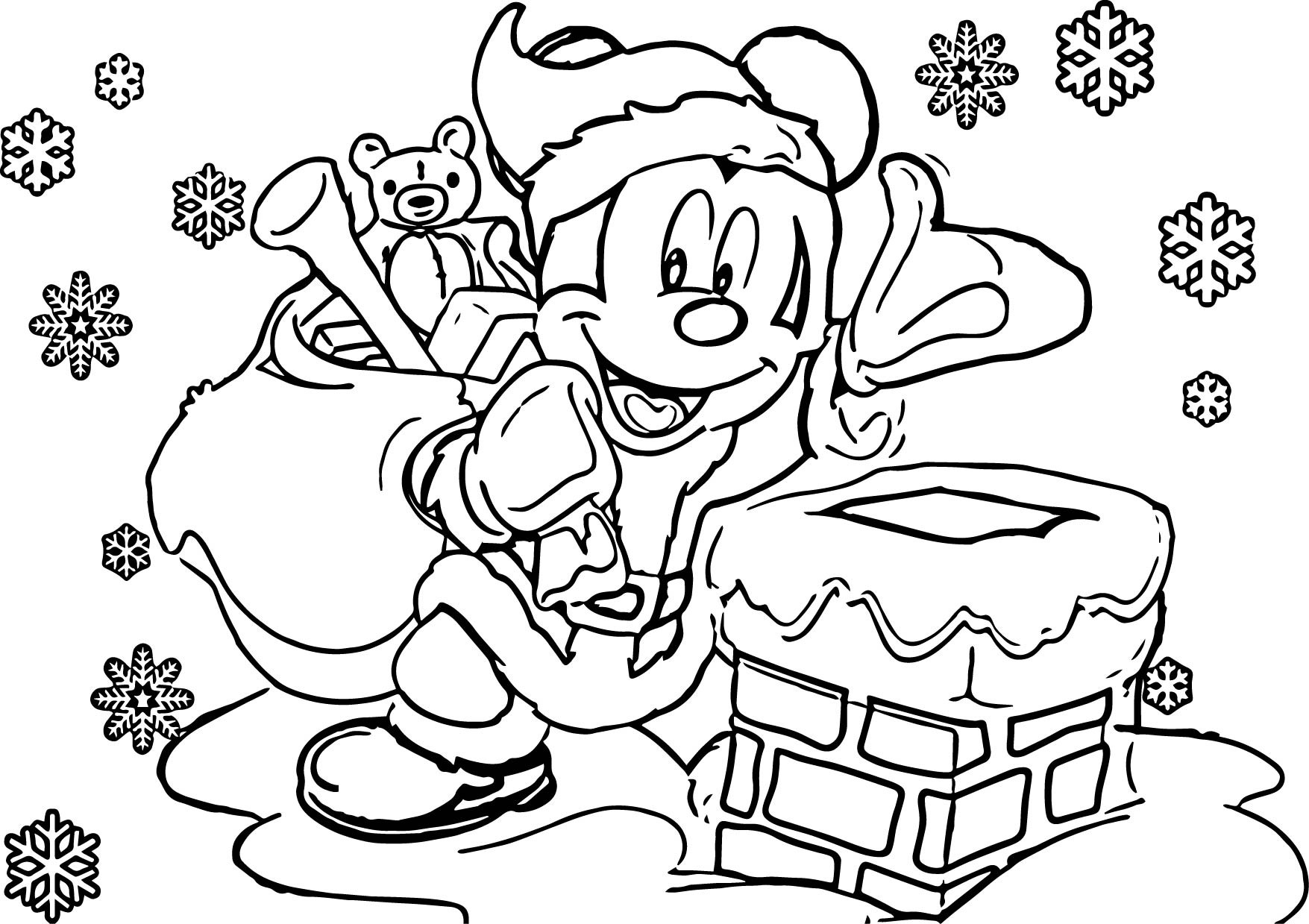 1755x1239 Coloring Pages Christmas Scene New Free Printable To Color Kids