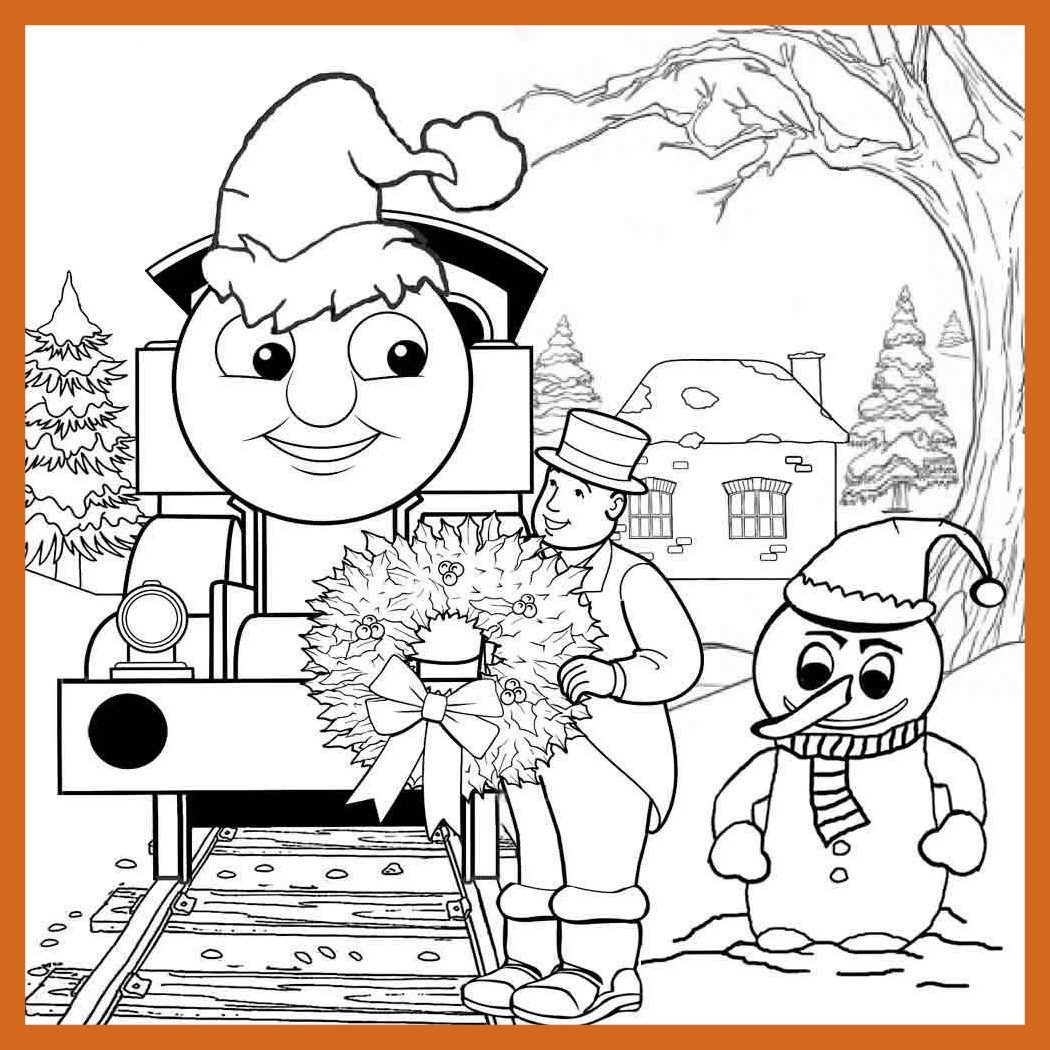 1050x1050 The Best Train Christmas Coloring Pages Image For Nativity Scene