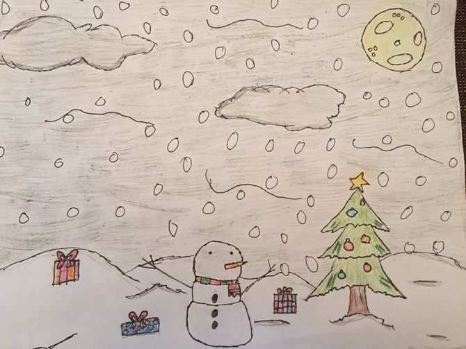 670x503 How To Draw A Christmas Landscape 12 Steps (With Pictures)