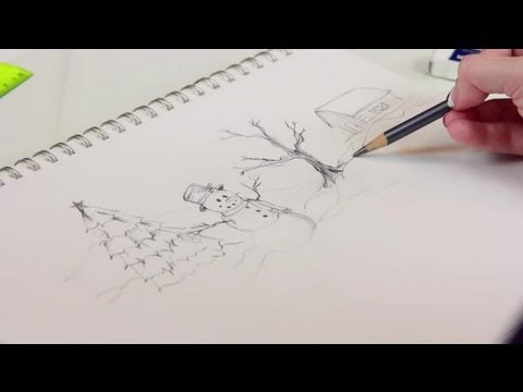 480x360 How To Draw A Simple Christmas Scene Decorating For Christmas