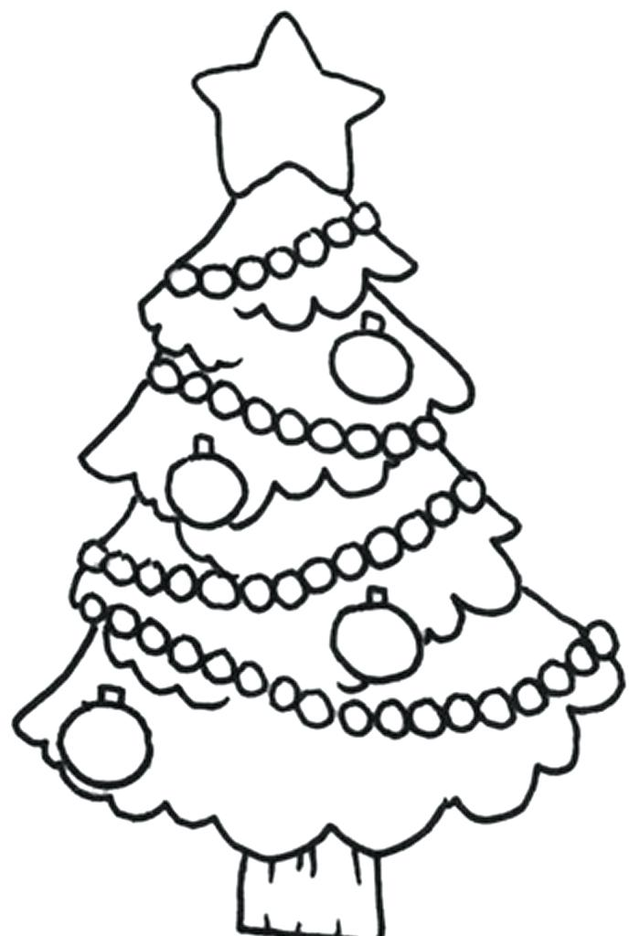 700x1024 Christmas Tree Drawing Easy Tree Drawing Tree Coloring Pages