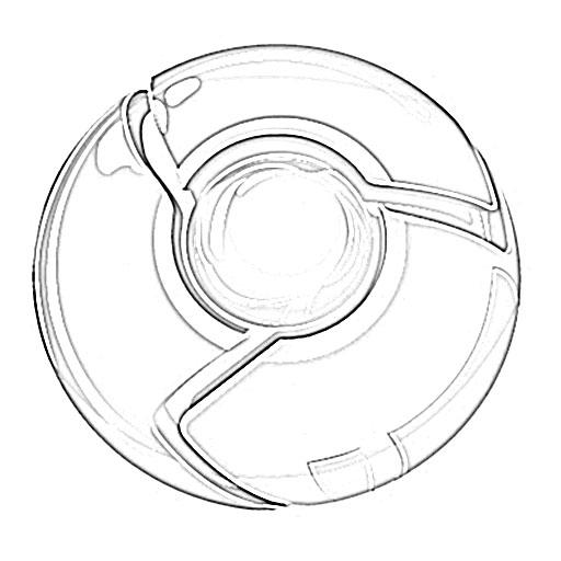 512x512 Google Chrome Logo Sketch