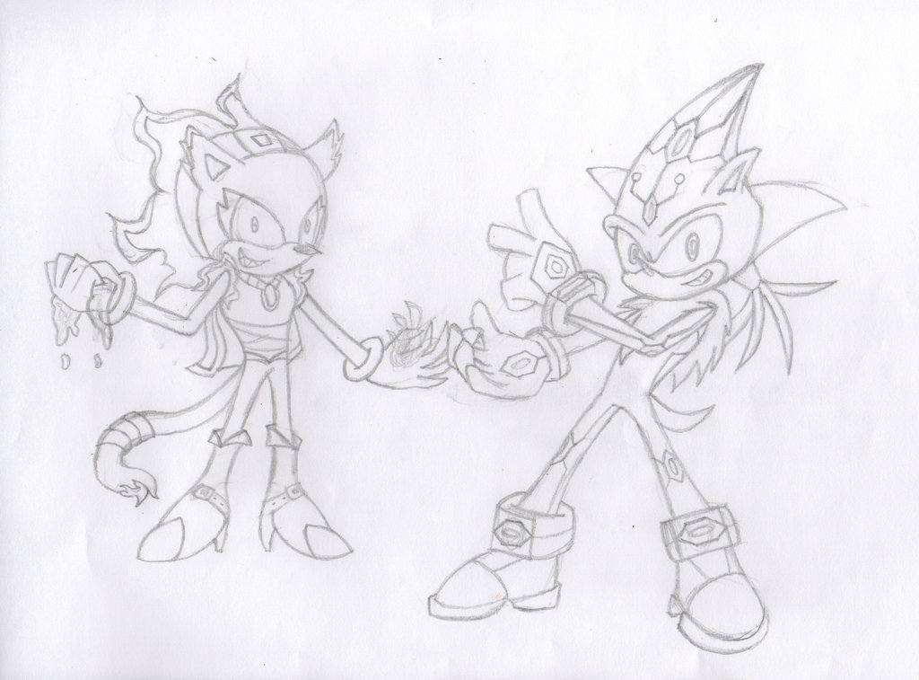 1024x757 Proto Blaze And Silver (Sketch) Hariq And Chrome By Lanimated