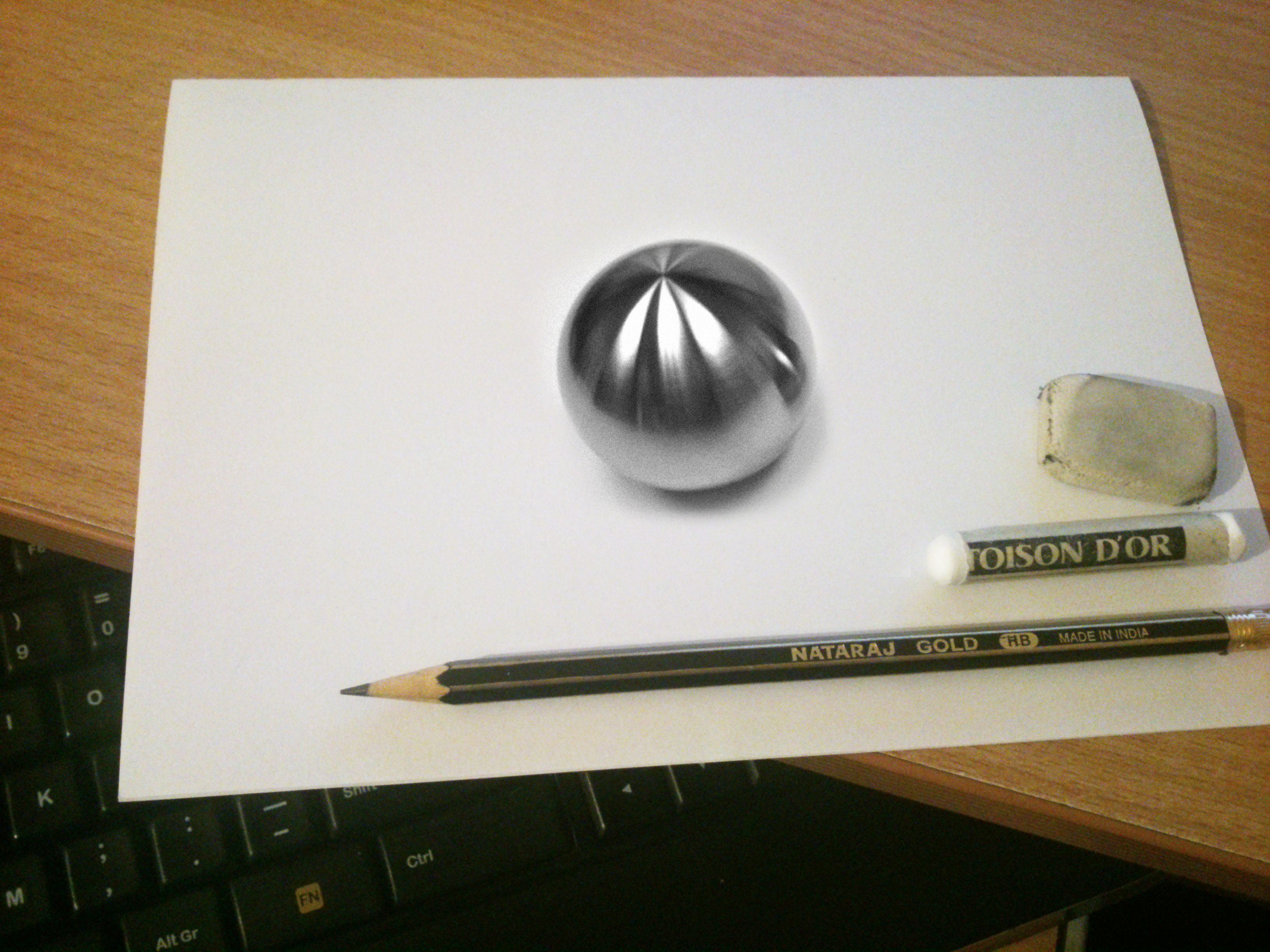 3264x2448 3d Chrome Ball My Drawing Drawings