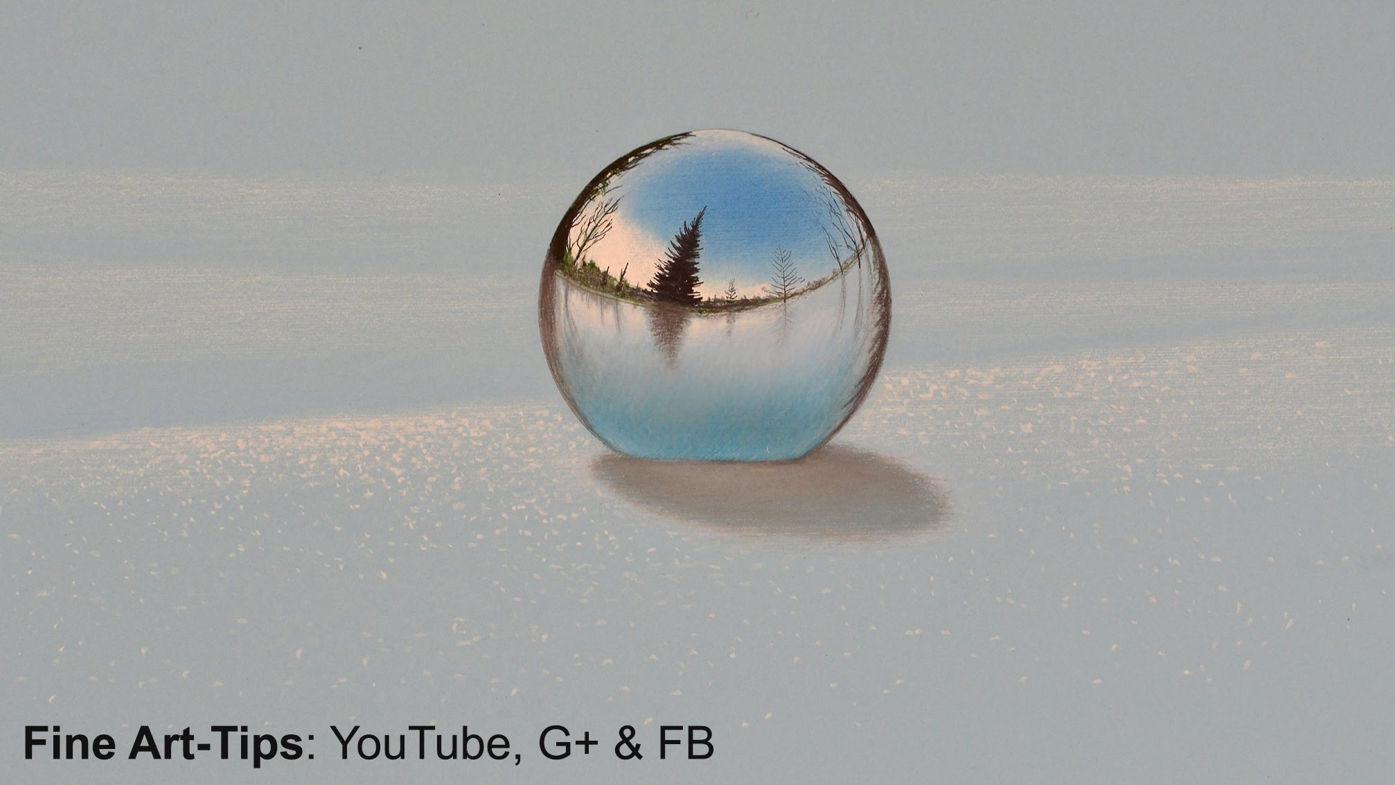 2014x1134 How To Draw A Chrome Sphere On The Snow